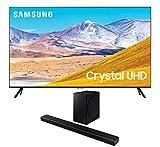 Samsung UN85TU8000 4K Crystal 8 Series Ultra High Definition Smart TV with a Samsung HW-Q60T Wireless 5.1 Channel Soundbar and Bluetooth Subwoofer (2020)