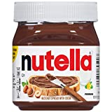 One 13 oz jar of delicious Nutella hazelnut spread, the perfect topping for pancakes, waffles, toast, and more! The Original Hazelnut Spread…unique in all the world. Made from quality ingredients like roasted hazelnuts and cocoa. Packaged in the icon...