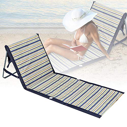 hook.s Tumbona Plegable para jardín Tumbona reclinable Silla con Respaldo Ajustable - Patio Trasero Jardín Camping Picnic Beach Relajante Asiento cómodo al Aire Libre (Azul)