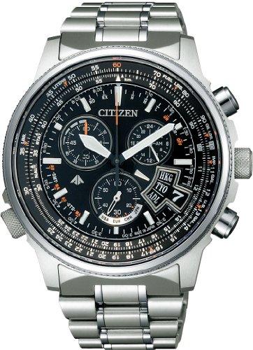 [シチズン]CITIZEN 腕時計 PROMASTER プロマスター エコ・ドライブ 電波時計 スカイシリーズ ダイレクトフライト BY0080-57E メンズ