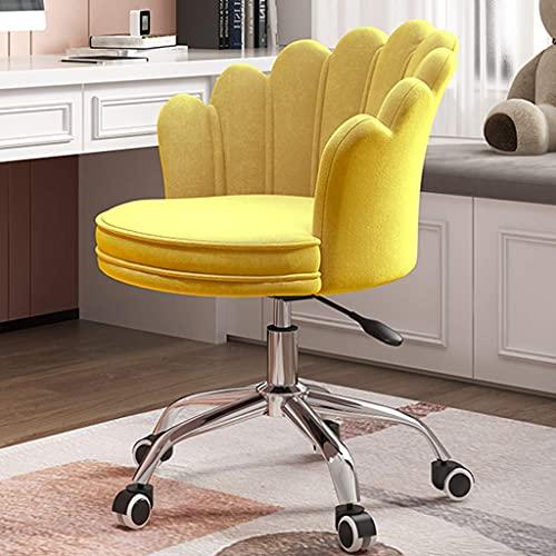 PIVFEDQX Flanell Büro Schreibtisch Arbeitsstuhl, Moderne süße Akzent Drehsitz höhenverstellbar, Bequeme Make-up...