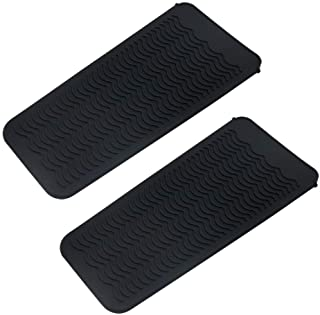 BangBoom 2 Pack Heat Resistant Silicone Mat Pouch, Portable styling heat mat, Curling Iron pad Cover, Hair Straightener Tr...