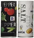 Morton's Salt, Mccormick Pepper Pack, 5.25-ounce Shakers