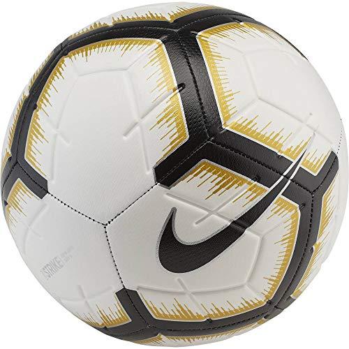 Nike Unisex-Erwachsene Strike Ball, White/Black/Metallic Vivid Gold/Black, 5