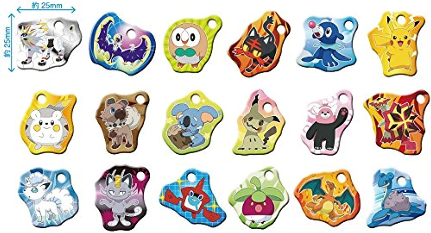 Pocket Monster Sun & moon are BOX products 1 BOX = 18 pieces, all 18 types