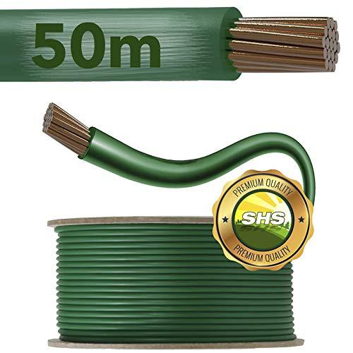 50m Begrenzungskabel für Mähroboter Rasenmäher Rasenroboter Zubehör SET Begrenzungsdraht für Suchkabel - kompatibel mit GARDENA/BOSCH/HUSQVARNA/WORX/HONDA/ROBOMOW/iMow / Ø2,7mm