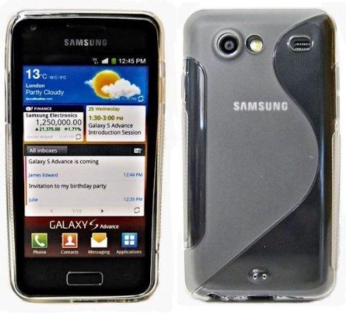 ENERGMiX S-Line TPU SchutzHülle Silikon Hülle Schale Handy Tasche kompatibel mit Samsung Galaxy S Advance i9070 Silikon Hülle in Transparent