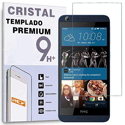 REY Protector de Pantalla para HTC Desire 626/530 Cristal Vidrio Templado Premium