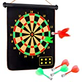 Yalis Premium Magnetic Dart Board Set for Family Games, 15 Inchese...