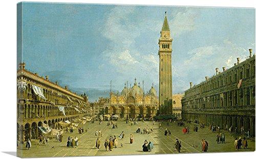 "ARTCANVAS Piazza San Marco 1729 Canvas Art Print by Canaletto - 26"" x 18"" (1.50"" Deep)"