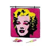 Kit de gancho para mini alfombra de costura para tapicería, retrato, 43 × 43 cm
