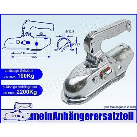 Albe Berndes Zugkugelkupplung Kugelkupplung Zugrohr 45mm 46mm Em 220 R A 05545 Für Pkw Anhänger Auto