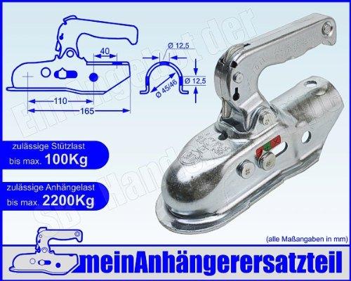 ALBE Berndes Zugkugelkupplung Kugelkupplung Zugrohr 45mm 46mm EM 220 R A 05545 für Pkw Anhänger