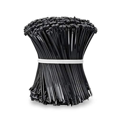 Beshine Kabelbinder 100mm x 2.5mm 1000 Stück, Nylon, UV-Beständig - Schwarz