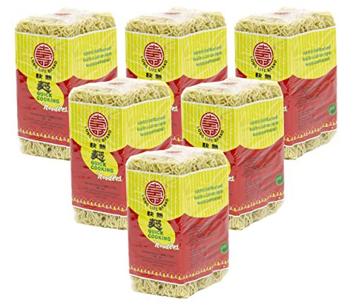 [ 6x 500g ] LONG LIFE BRAND Schnellkochende Nudeln / Quick Cooking Noodles / Wok / Mie