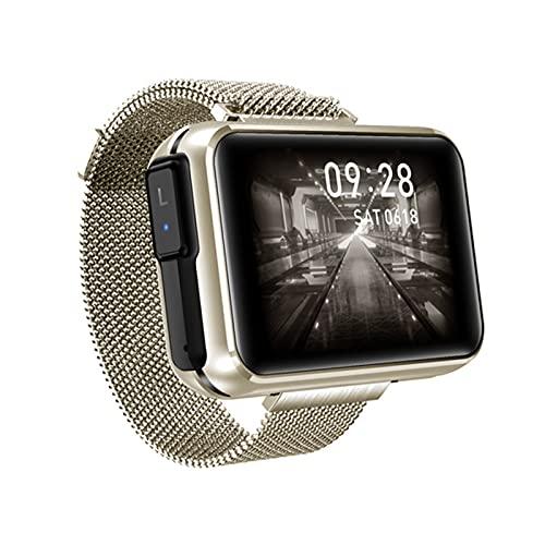 Nuevo T91 Smart Watch TWS Wireless Bluetooth Call Smart Relk con Auricular Tiempo Pronóstico Deportes Smartwatch Hombres,D