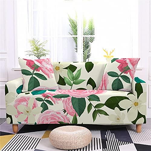 WXQY Funda de sofá elástica con Estampado Floral para Sala de Estar Funda de sofá de Spandex en Forma de L Funda de sillón Funda de sofá Antideslizante A2 4 plazas