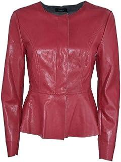 f1b095a2cd0b4b Amazon.it: Ecopelle - Rosso / Giacche e cappotti / Donna: Abbigliamento
