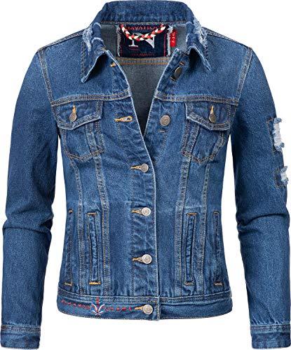Navahoo Damen Jeansjacke Übergangsjacke Pamuyaa Blau Denim Gr. S