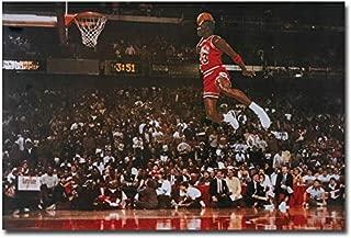 Framed Michael Jordan Dunk Basketball Wall Art Poster 47 36 24 16 Inches