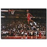 Michael Jordan Famous Foul Line Dunk Basketball Poster No Frame (36 X 24 (Horizontal))