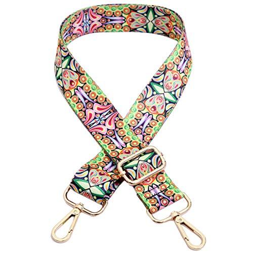 Ajustable Correa de Hombro Cinturón Bolsa 85cm-140cm Correa de bolso bolso colorido Multicolor Lona Correa de repuesto 3,8 cm de ancho