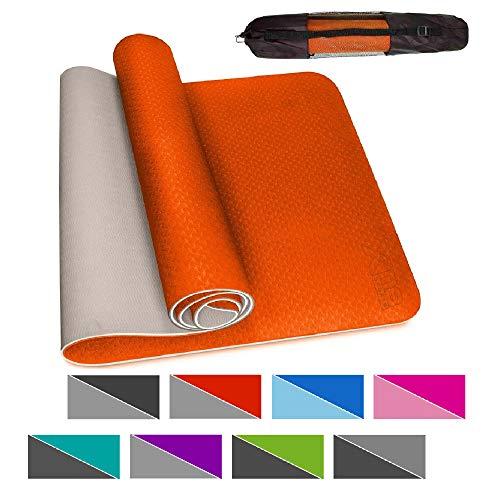 Xn8 Tappetino Yoga 6mm Antiscivolo Superficie con Tracolla per Palestra-Pilates-Aerobico-Fitness-Esercizi a Casa