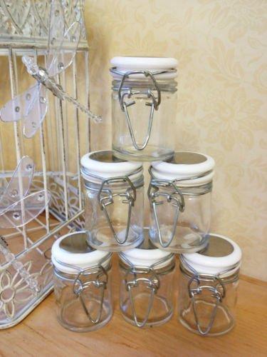 Set van 6 Glazen Clip Top Jar Kleine Mini Snoepjes Kruid Jam Pot Bruiloft Gunst