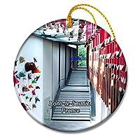 Lons-le-Saunierフランス笑う牛の家クリスマスオーナメントセラミックシート旅行お土産ギフト
