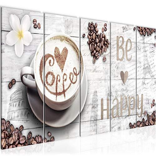 Bild Küche Kaffee Kunstdruck Vlies Leinwandbild Wanddekoration Wohnzimmer Schlafzimmer 020756b