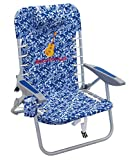 Margaritaville Outdoor 4-Position Backpack Folding Beach Chair - Blue Floral, 24' x 24.75' x 33,...