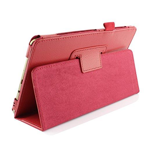 Urcover® Schutzhülle kompatibel mit Samsung Galaxy Tab S 8.4 Smart Hülle Hülle Sleeve Tasche [ Stand-Funktion ] Flip Cover, Edel Wallet, Tablet Zubehör Rot