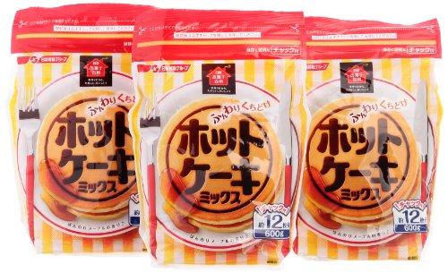 日清製粉 日清お菓子百科『ふんわりくちどけホットケーキミックス チャック付』
