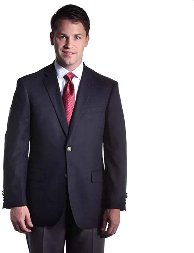 Big and Tall Navy Classic Stretch Blazer for Business and Casual Wear to Size 72
