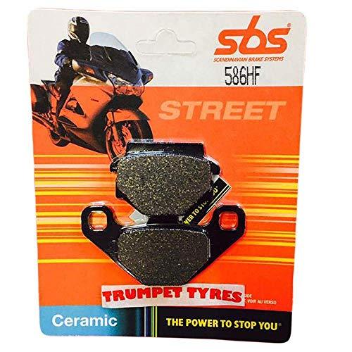 Trumpet Tyres : Race & Motorcycle Parts Kawasaki Ex 500, Ex500 94 95 96 SBS Performance achterste keramische remschijven set kwaliteit Originele OE 586hf