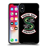 Head Case Designs Offizielle Riverdale South Side Serpents Grafik Kunst Soft Gel Huelle kompatibel mit iPhone X/iPhone XS