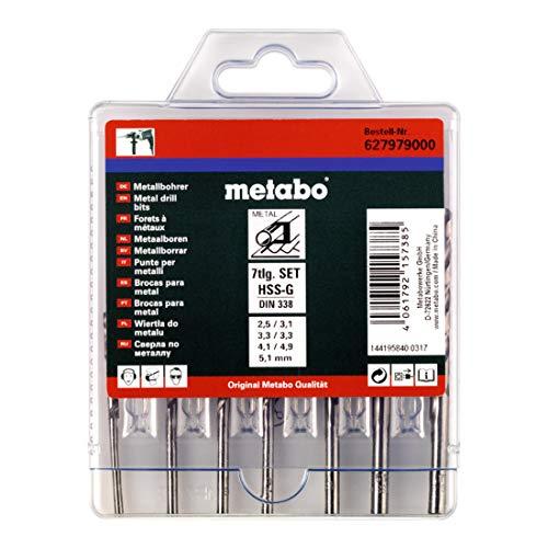 Metabo Werks GmbH 627979000 HSS-G Drill Bit Set 7-Piece