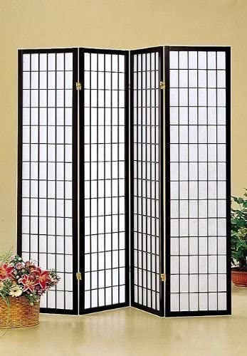 Japan Oriental Square Style - 4 Panel room Shoji Ranking TOP1 National products Di Black Screen
