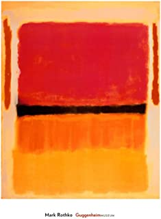 Untitled (Violet, Black, Orange, Yellow on White and Red), 1949 Art Poster Print by Mark Rothko, 26x36 Art Poster Print by Mark Rothko, 26x36