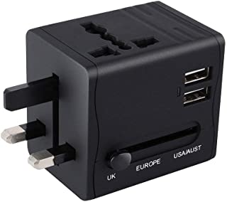gundoop 海外変換プラグ 海外旅行アダプター 電源プラグ 2USBポート付 携帯便利 コンセント変換 A・O・BF・Cタイプマルチプラグ