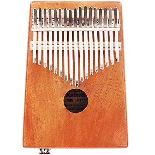 Duim Piano Protable Finger Piano 17 toetsen duimpiano mahonie Mbira met beschermdoos sticker tuning hamer voor kinderen volwassenen beginners geschenken voor kinderen en volwassenen beginners