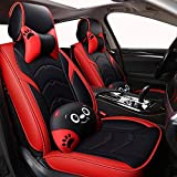 SHENGYUAN Asientos de Piel de Dibujos Animados de Coches Cover Set Delantero y Trasero for Jaguar XF M Pace XJL XFL XE XJ6 XK Todos los Modelos de Coches Accesorios de automoción Exquisito