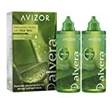 Líquido de lentillas AVIZOR Alvera 2 × 350 ml con estuches. Solución para limpieza y desinfección de todo tipo de lentes de contacto blandas.