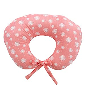 crib bedding and baby bedding my blankee nursing pillow with dandelion minky slipcover, coral, small/medium