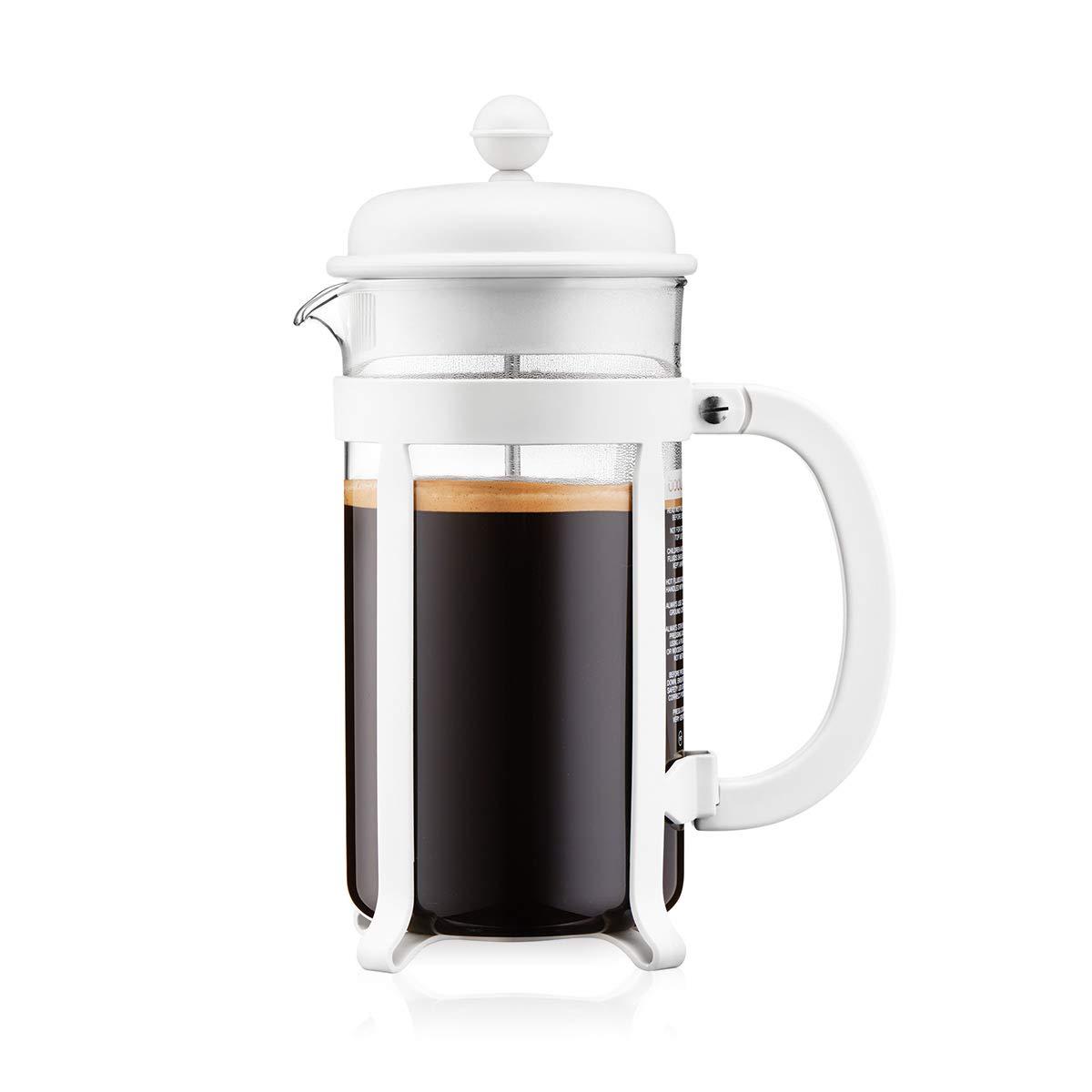 Bodum - 1908-913 - Java - Cafetera 8 Tazas - 1.0 l - Color Blanco Crema: Amazon.es: Hogar