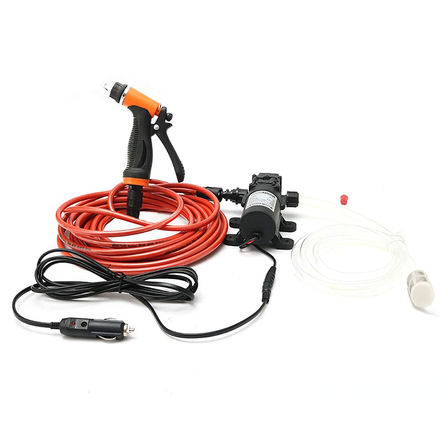 RTYou Mini Portable 12V 100W 160PSI High Pressure Car Electric Washer Pump with 1.2M PVC Hose for Home Garden Vehicles Projects 【Ship from USA 】