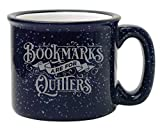 BAD BANANAS - Gifts for Librarians, Book Lovers, Writers, Readers - Bookmarks Are For Quitters Mug - 15 oz Women & Men Funny Enamel Bookish Themed Coffee/Tea Mug