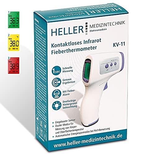 Kontaktloses Infrarot Fieberthermometer, Thermometer, Digital, Messung < 1 Sekunde, Messung von Körper-, Oberflächen- oder Raumtemperatur, geeignet für Babys, Kinder und Erwachsene (2x AAA enthalten)