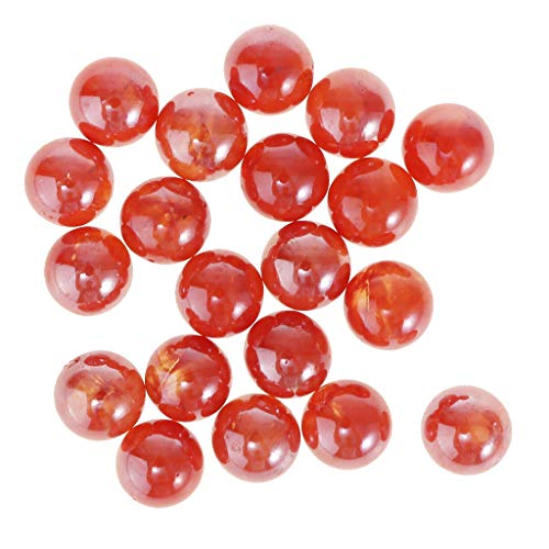 B Blesiya 20pcs Glasmurmeln Klarglas Marmor Spielzeug - 20x 16mm - Orange