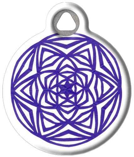 Dog Tag Art Celtic Starburst - Custom Pet ID Tag for Dogs and Cats Small Size
